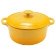 Kép 3/5 - Perfect Home Zománcozott öntöttvas lábas 28 cm 7l sárga 12477