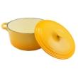 Kép 5/5 - Perfect Home Zománcozott öntöttvas lábas 28 cm 7l sárga 12477