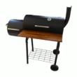 Kép 4/5 - Perfect Home Grillező - grillkocsi füstölővel és asztallal 13088