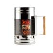 Kép 1/2 - Perfect Home BBQ Faszénbegyújtó hordó rozsdamentes acél 14757
