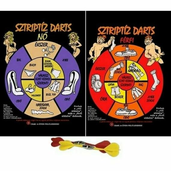 Perfect Home Sztriptíz darts ivós játék 10153