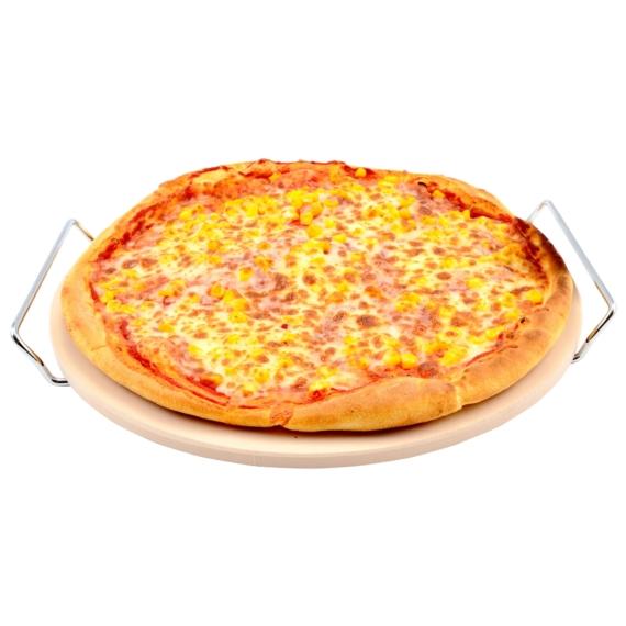 Perfect Home Pizzasütő kő lap 33 cm, állvánnyal 11448