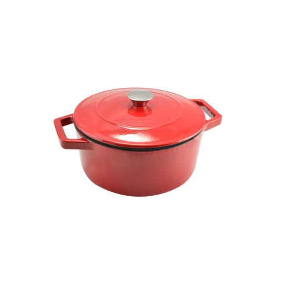 Perfect Home Zománcozott öntöttvas lábas 24 cm 4 literes piros 12968