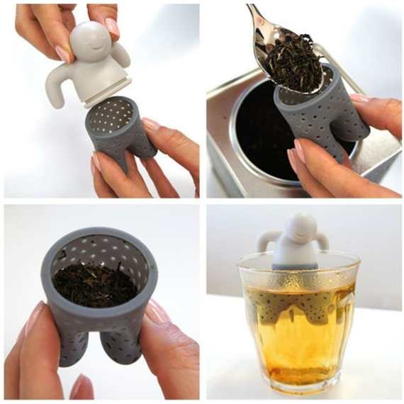 Perfect Home Teafilter szilikon emberke 12992