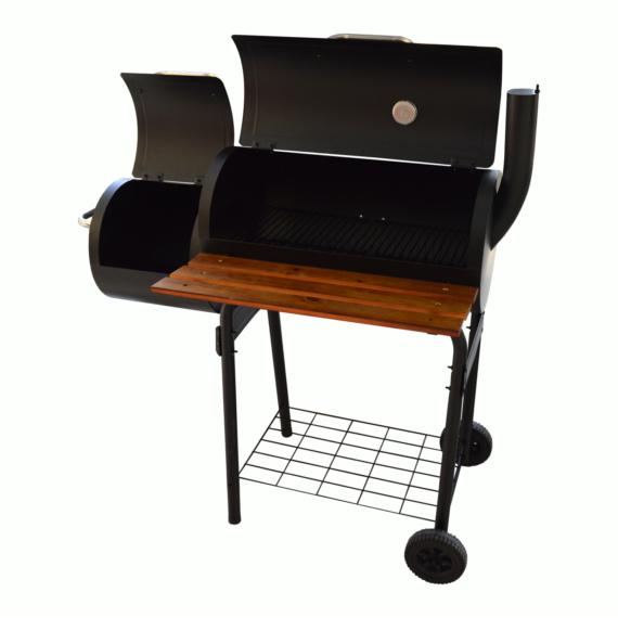 Perfect Home Grillező - grillkocsi füstölővel és asztallal 13088