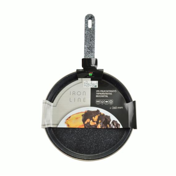 Perfect Home Iron line palacsintasütő tapadásmentes bevonattal 26 cm fekete 13180