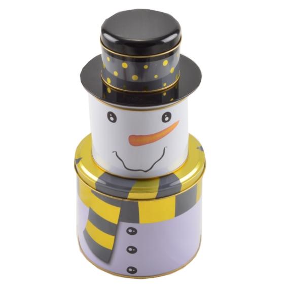Perfect Home Lito Doboz szett hóember 3 részes 13265