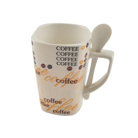 "Perfect Home Bögre kanállal ""coffee"" 13821"