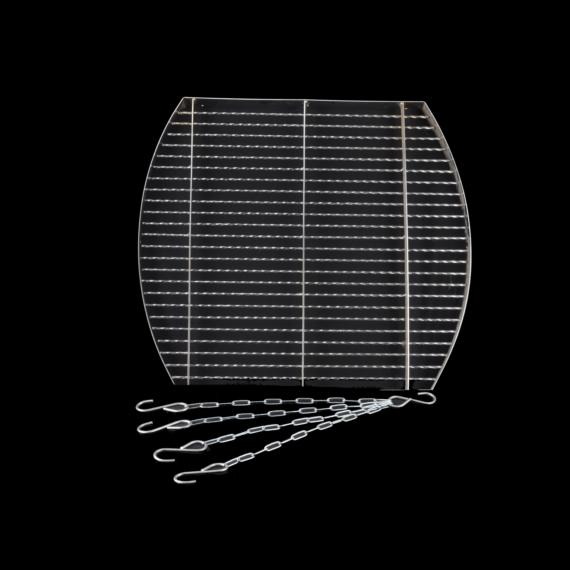 Grillrács + lánc négyzet 50cm 14551