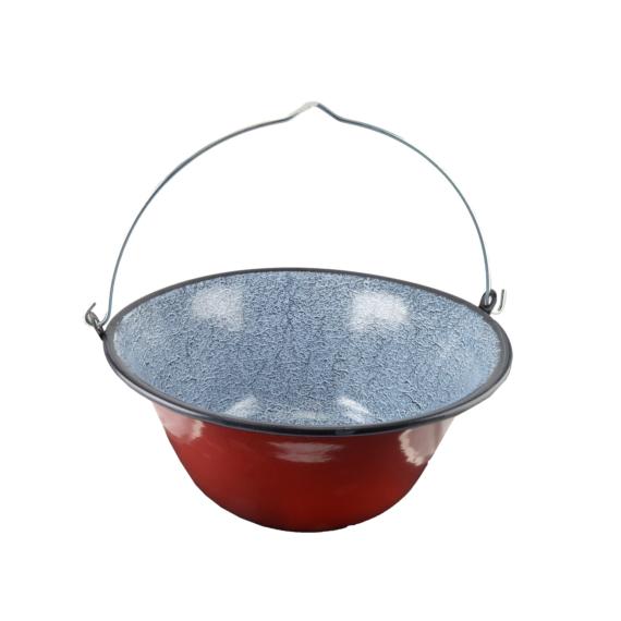 Perfect Home Zománcozott gulyás bogrács 22 liter piros/cirmos 33001