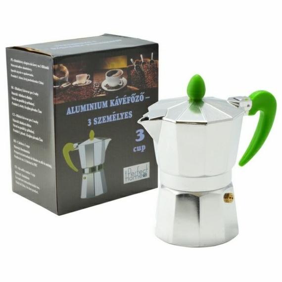 Perfect Home kotyogós kávéfőző 3 személyes színes nyéllel 70039